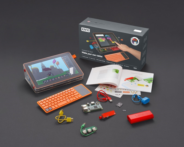 Kids can build their own computer with the Kano Computer Kit.
