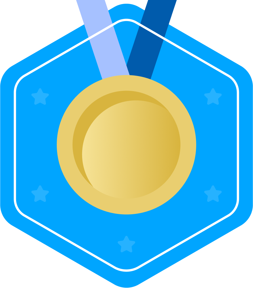 kids coding competition gold medal logo