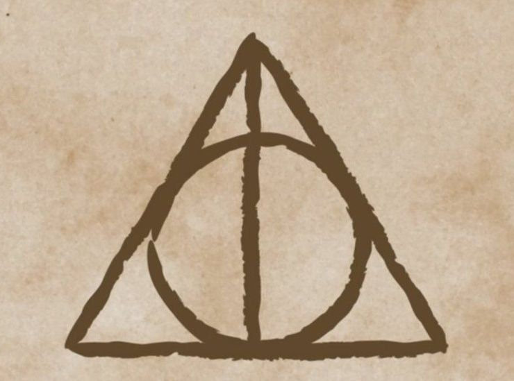 Harry Potter Deathly Hallows symbol - credit: http://www.bbc.co.uk/newsbeat/article/41795562/jk-rowling-reveals-the-inspiration-for-the-deathly-hallows-symbol