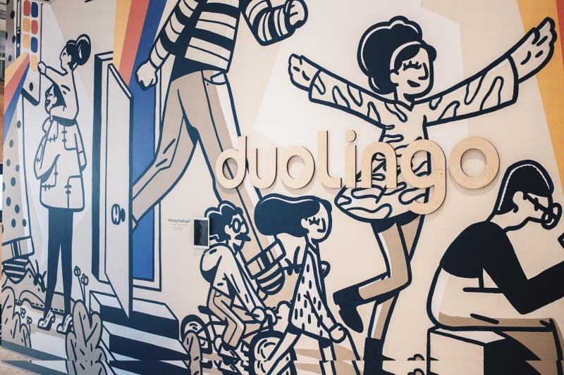 Duolingo office Mural