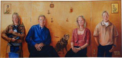 Family De Ven (Triptych open)