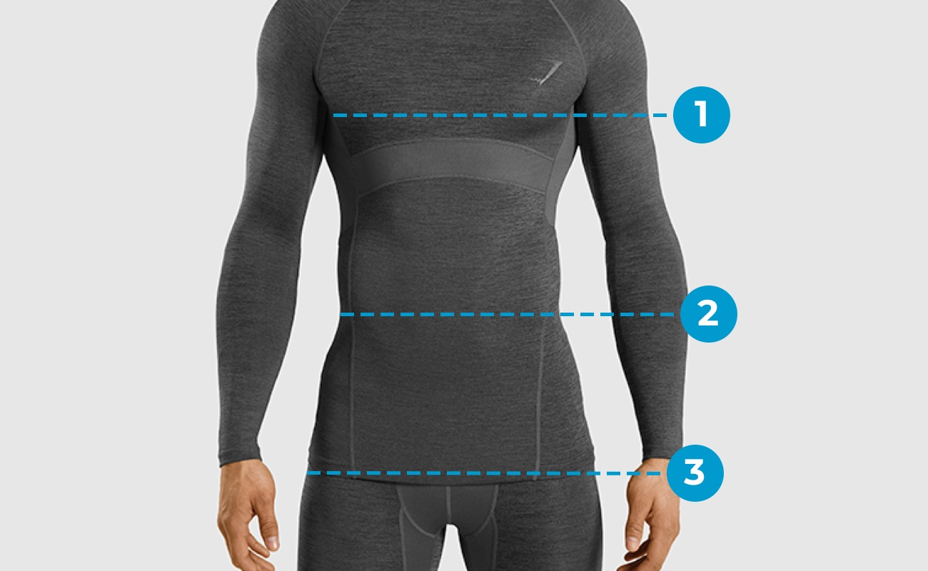 Mens Size Guide Top markings