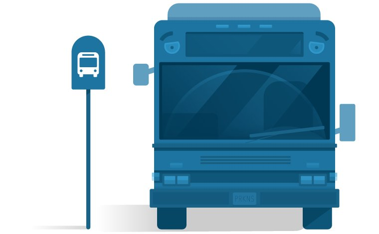 MBTA Bus Illustration