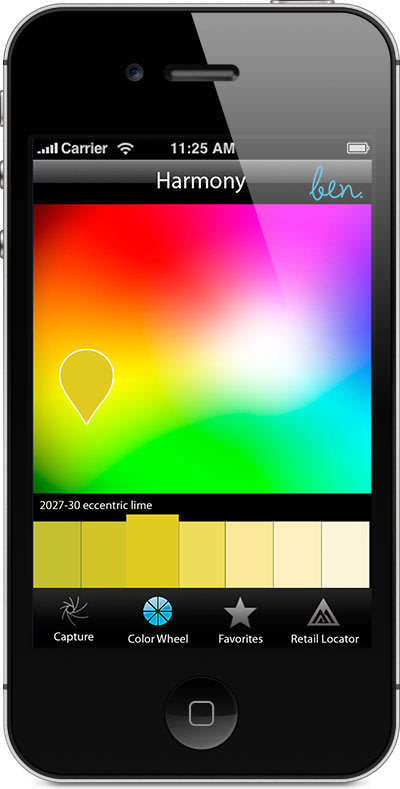 Benjamin Moore Screen: Color Selector