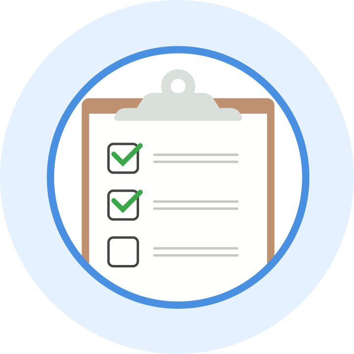A custom illustration shows a checklist of user testing items.