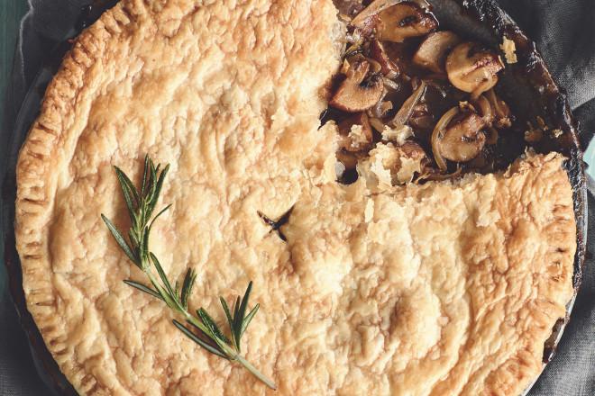Mushroom & Guinness Pie