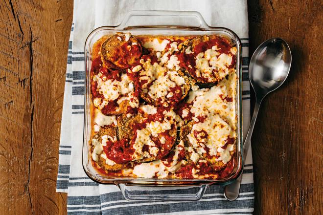 Aubergine Vegetarian Parmesan