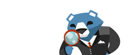 bear with magnifier