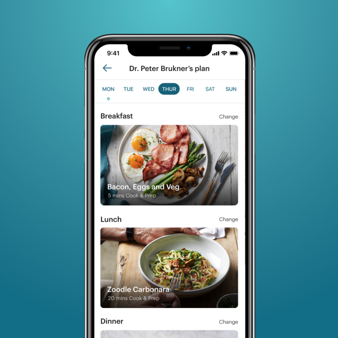 iPhone image of recipes