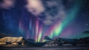 Northern lights Svalbard Arctic