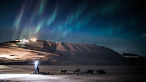 Northern-light Dog-sledding Aurora-borealis Agurtxane-Concellon Landscape-1920x1080 01