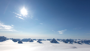 Ski expedition summer sun snow nature mountains Hurtigruten Svalbard 1920x1080
