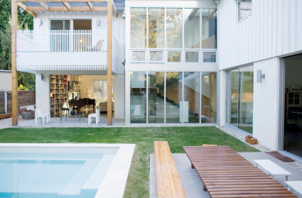 image brand photo modern exterior and pool