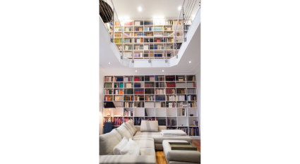 two story bright library