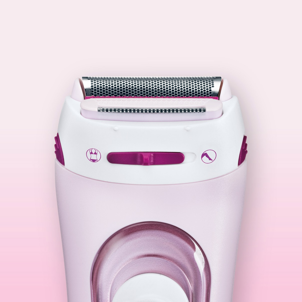 Braun Lady Shaver - 5360 Electric Shaver including Exfoliation Attachment - side