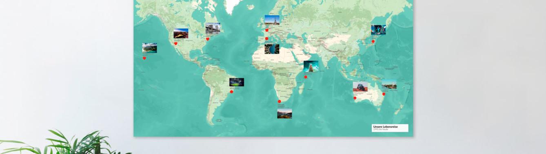 mapdid-Weltkarte - stilvoller als jedes Wandtattoo und Fototapete
