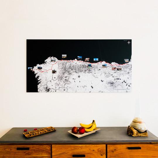 Dante & Thomas auf dem Jakobsweg: Die persönliche Landkarte an der Wand
