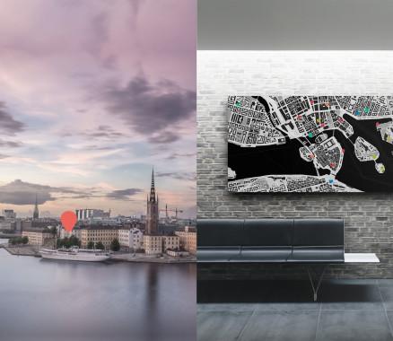 Stockholm-Karte als Poster gestalten