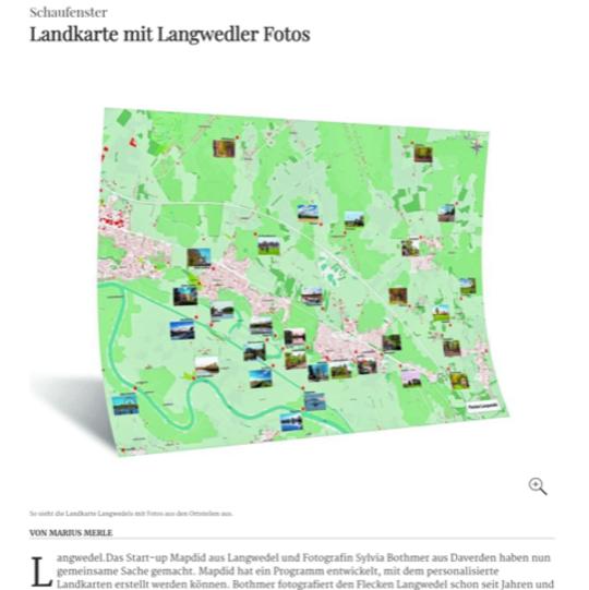 Heimat-Landkarte mit Langwedler Fotos von Sylvia Bothmer