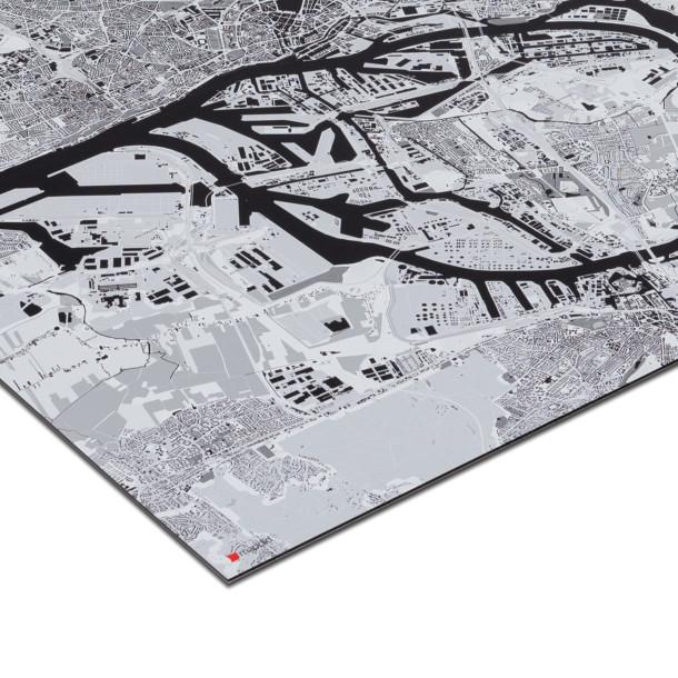 mapdid Landkarte als Alu-Dibond