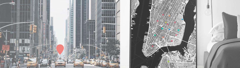 New York-Karte als Poster gestalten