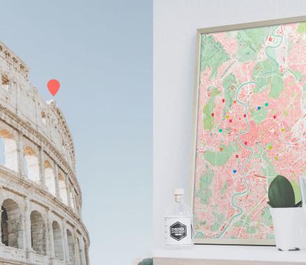 Rom-Karte als Poster gestalten