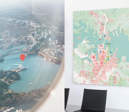 Sydney-Stadtkarte als Poster gestalten