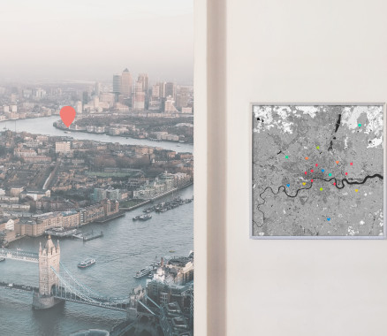 London-Karte als Poster gestalten
