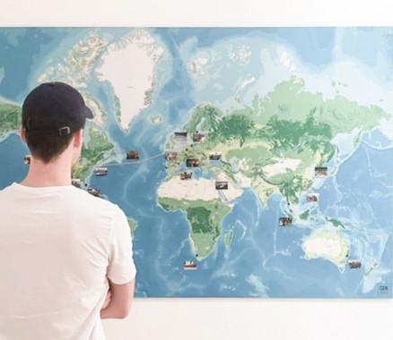 Die Event-Weltkarte von QX – Quarterly Crossing - gemacht von mapdid