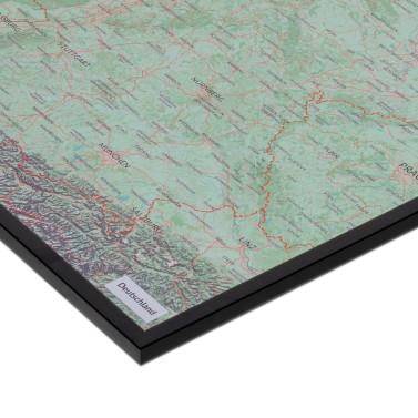 mapdid Landkarte im schwarzen Rahmen
