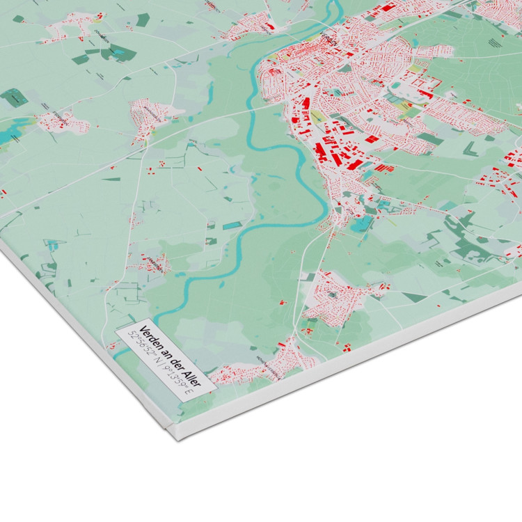 mapdid Landkarte als Leinwand