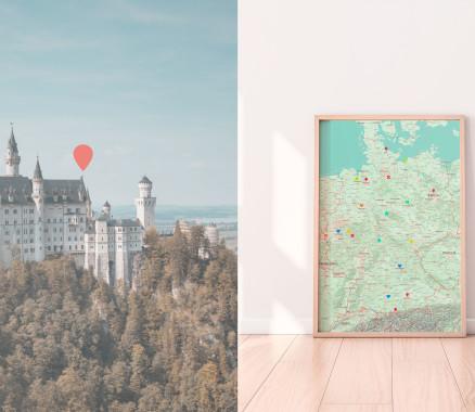 Deutschland-Karte gestalten