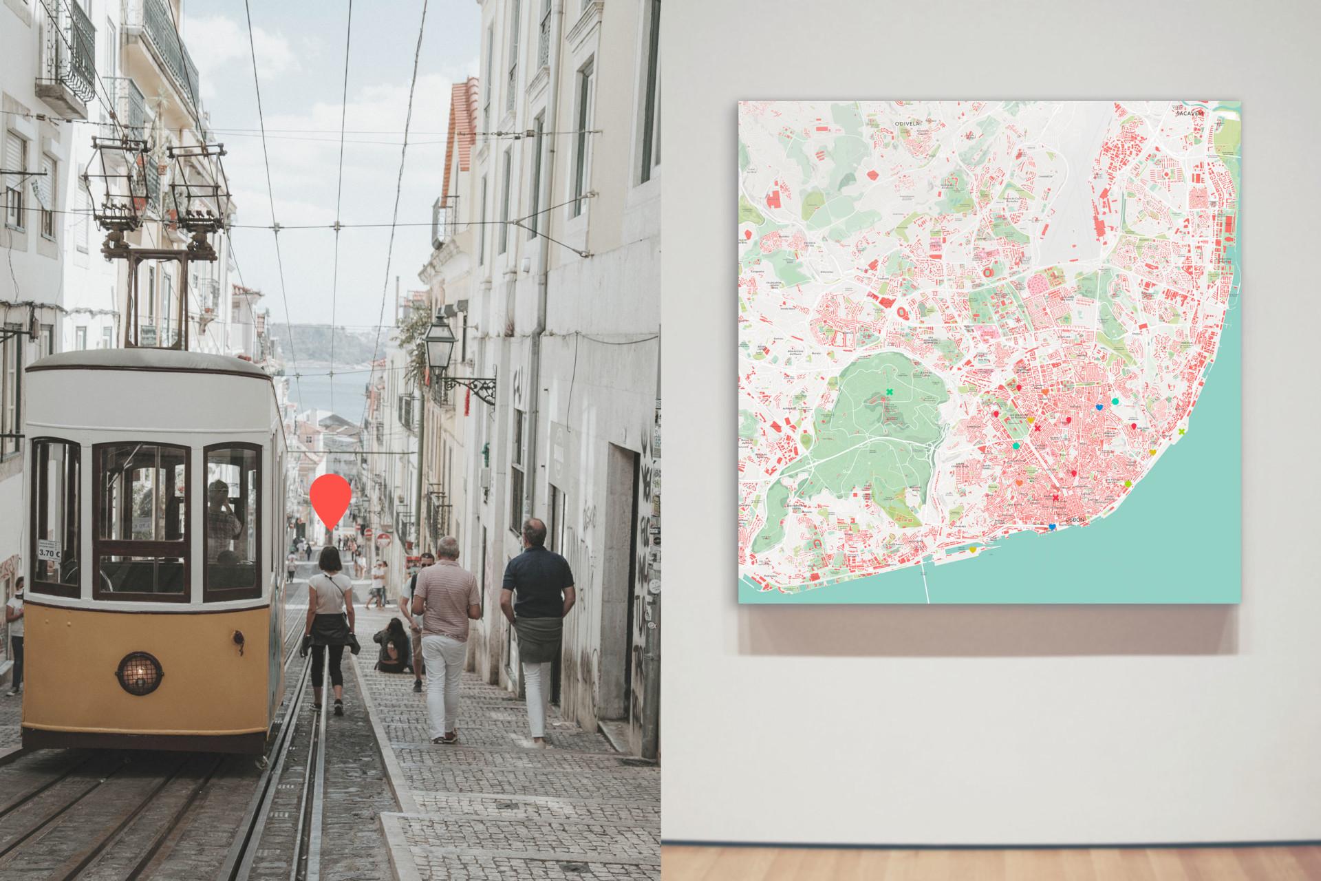 Stadtplan von Lissabon als Poster gestalten
