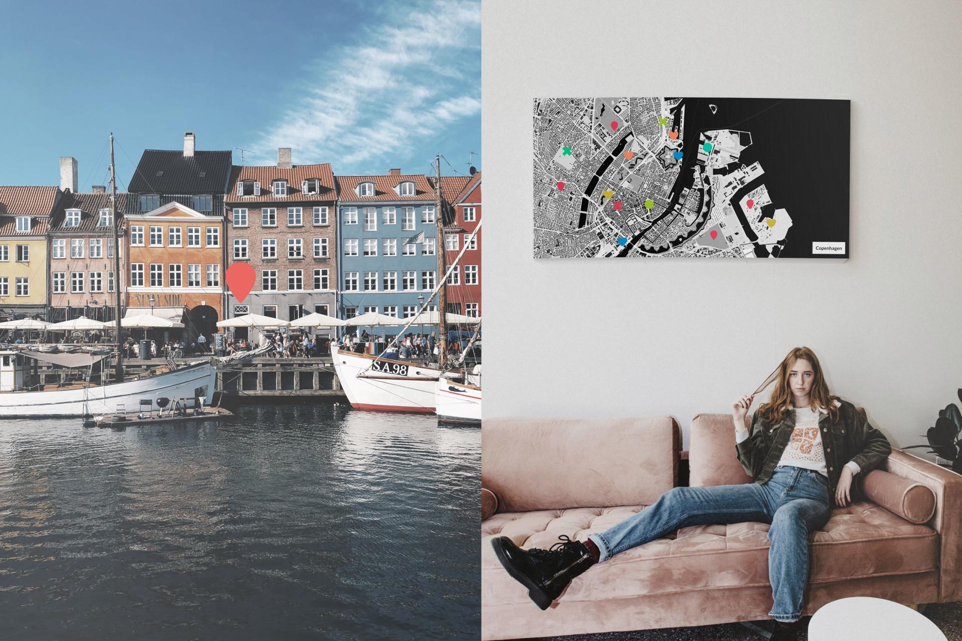 Kopenhagen-Stadtkarte als Poster gestalten