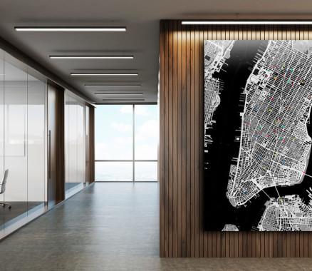 Nicht nur das Büro mit mapdid dekorieren - Landkarte als Wanddeko für Empfangsbereich, Besprechungsräume und Meetingräume