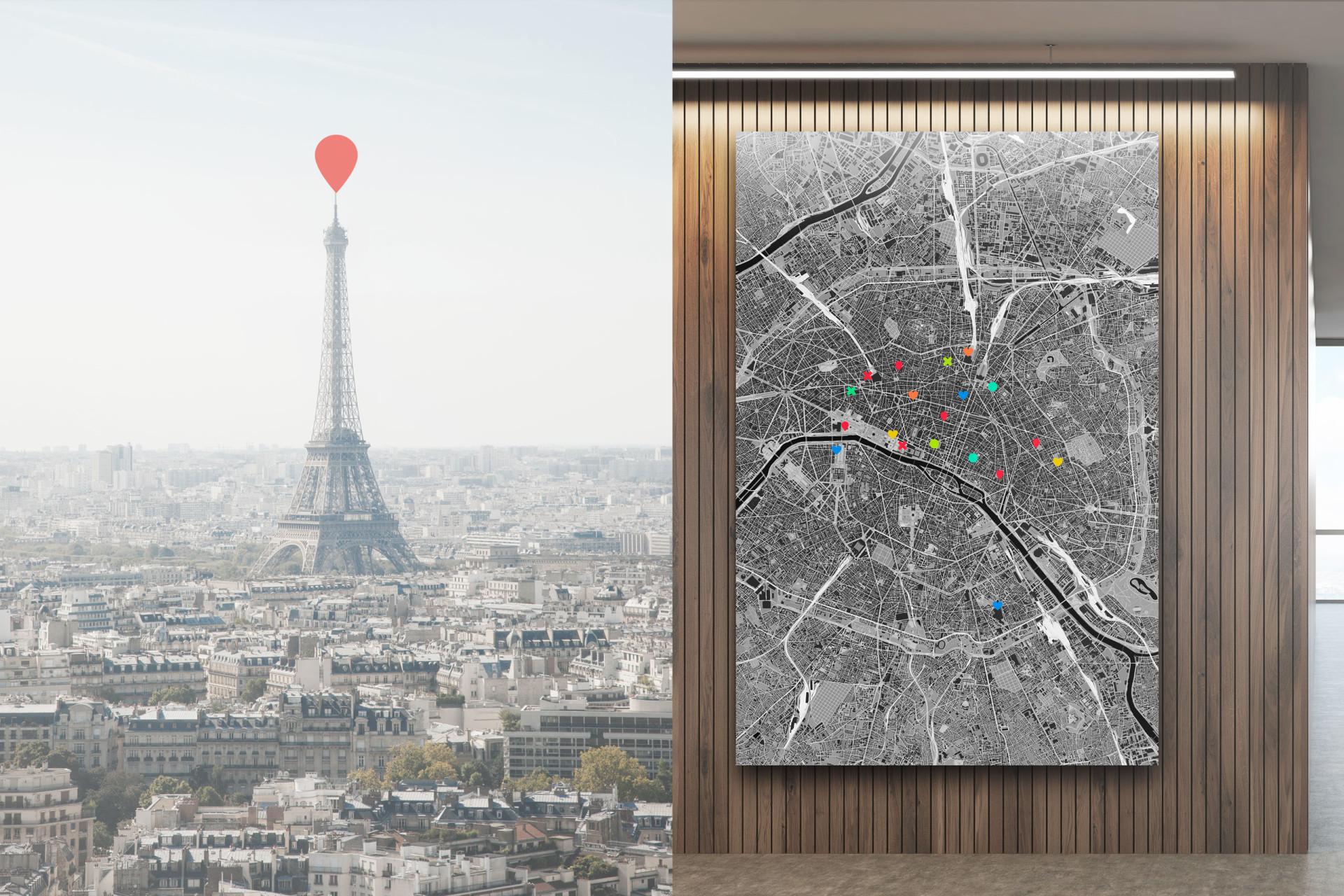 Paris-Stadtplan als Poster gestalten