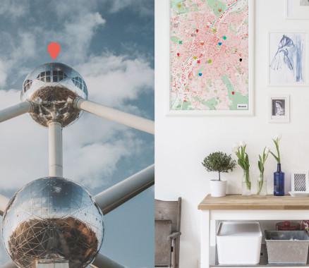 Stadtplan von Brüssel als Poster gestalten