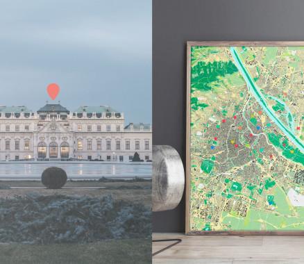 Wien-Karte als Poster gestalten