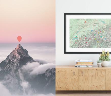 Schweiz-Karte als Poster gestalten