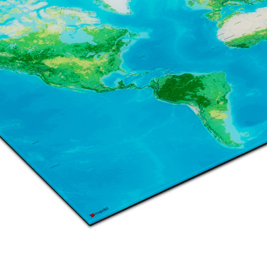 mapdid Landkarte als Galerie-Print (Material)