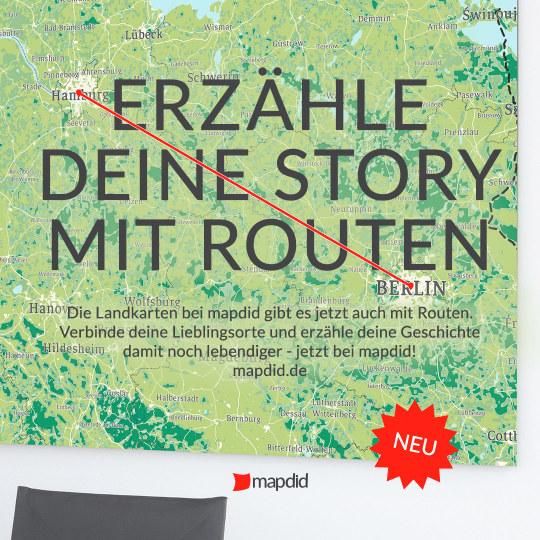 mapdid bietet jetzt auch Routen, mit denen deine Storys noch lebendiger werden