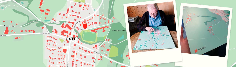 Der Geburts- und Heimatort ganz groß in Szene gesetzt - als Geschenk der Familie für den Vater und Opa zum 92. Geburtstag
