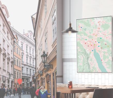Stadtplan Zürich als Poster gestalten