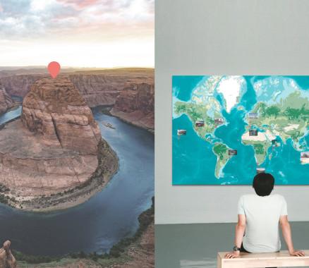 Weltkarte-Poster oder Weltkarte als Landkarte gestalten