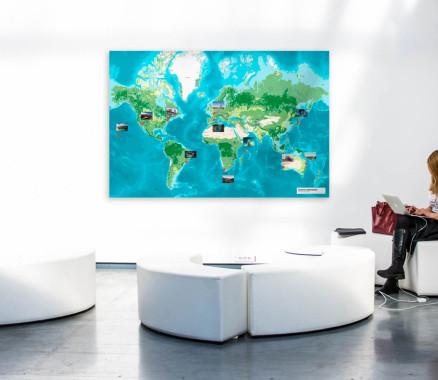Landkarte der weltweiten Unternehmensstandorte oder eine Umgebungskarte - visualisieren Sie Ihr Unternehmen