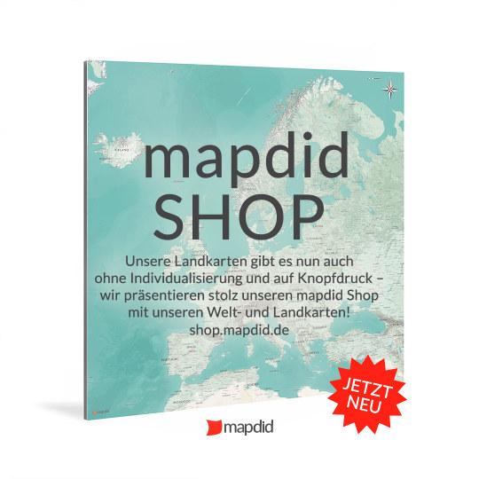 Der neue mapdid Welt- und Landkarten-Shop