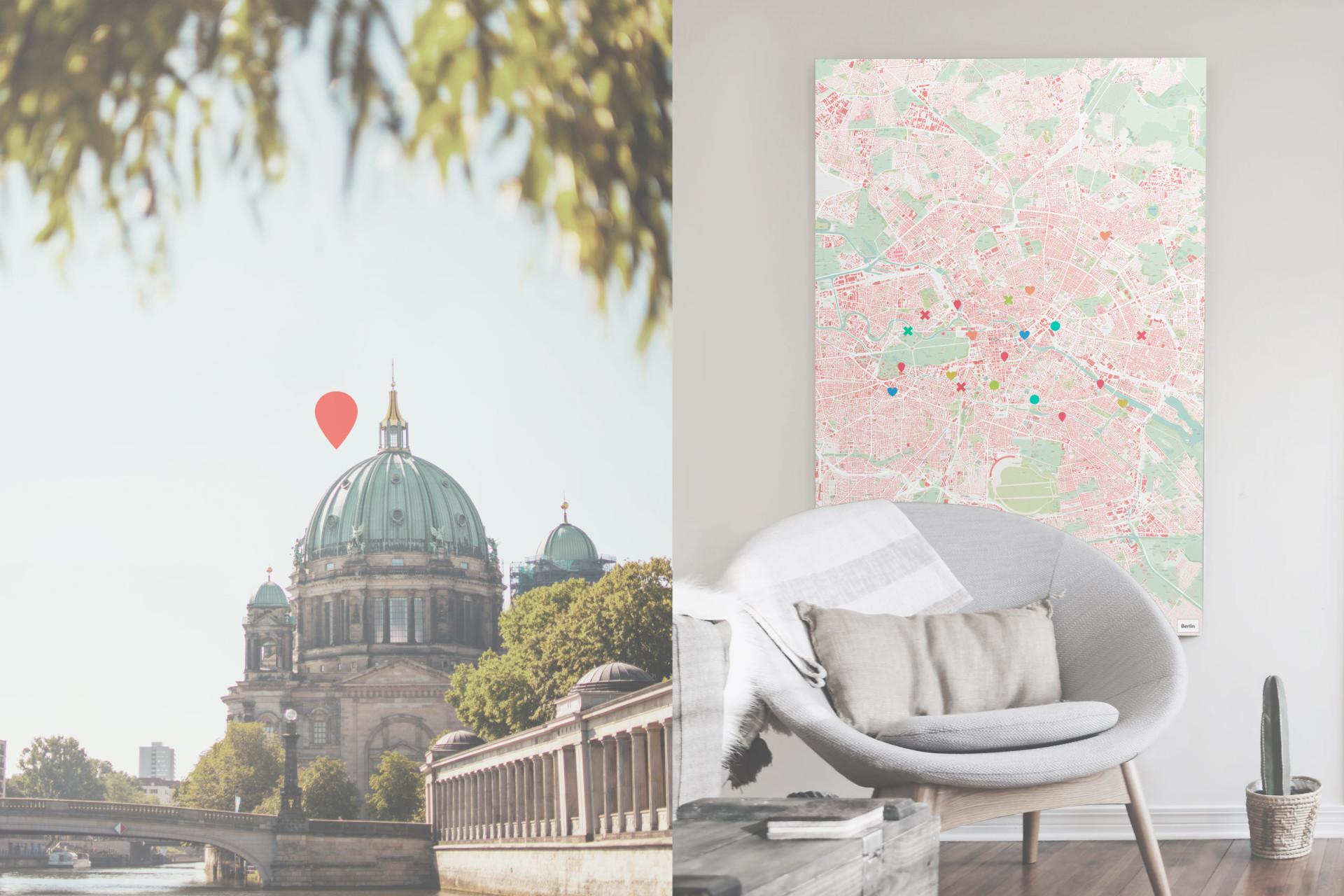 Berlin-Karte als Poster gestalten