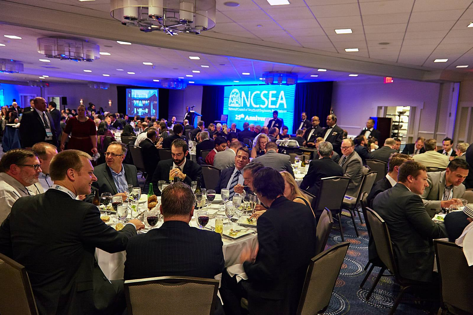 Attendees at the 2017 NCSEA Awards Banquet honoring winners of the Excellence in Structural Engineering Awards