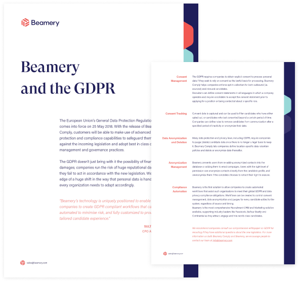 Beamery and the GDPR