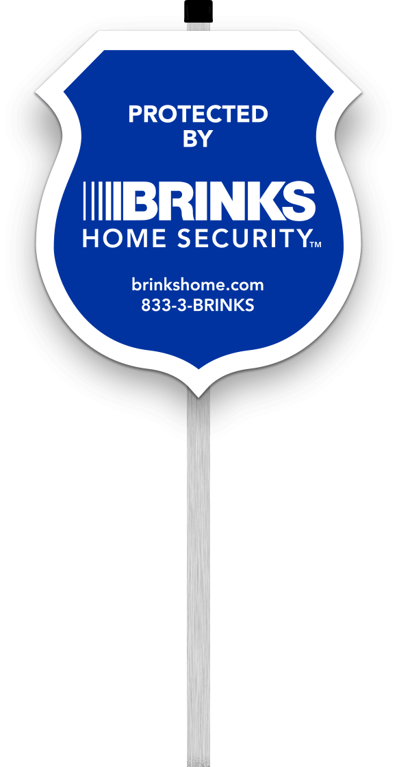 Protected by Brinks Home Security Yard Sign